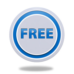 free circular icon on white background