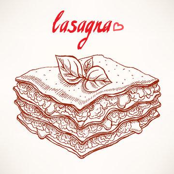 sketch lasagna