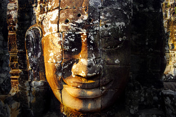 Wall Mural - giant head of Buddha