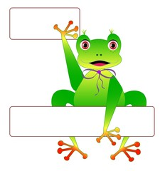 Frog with frames, vector
