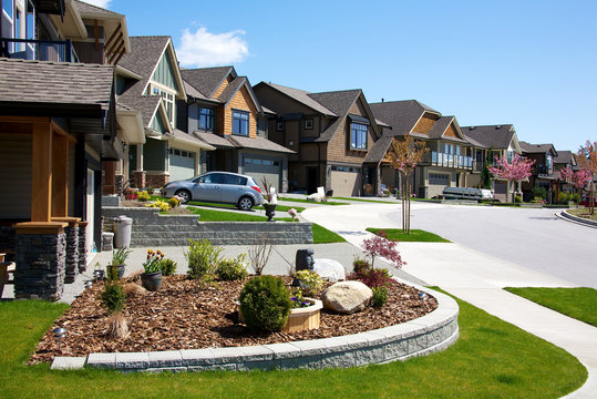 Elegant homes in an upscale residential neighbourhood