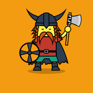 Man in Viking suit for Leif Erikson Day.