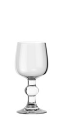 Empty wine glass on white background isolated