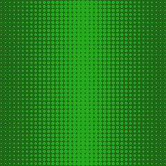 Halftone from the center of the green dots on a green background