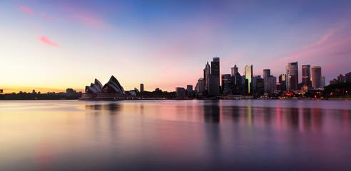 Canvas Prints Sydney Sydney City Skyline at sunrise