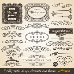Typographic Elements, Vintage Labels, Ribbons, illustration