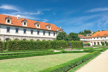 Czech Republic: Wallenstein Riding Hall in baroque garden.