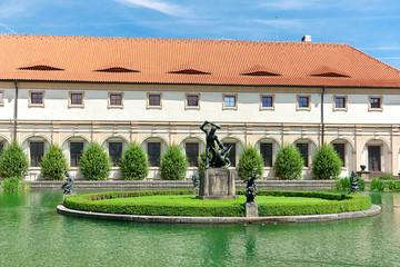 Wallenstein Riding Hall in baroque garden, Prague, Czech Republi