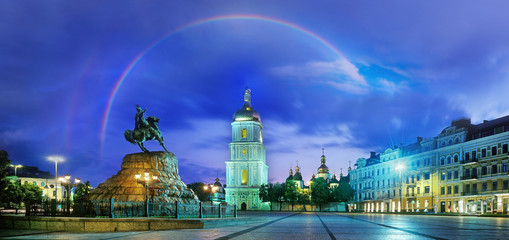 Wall Murals Kiev Rainbow over the Monastery Sophievsky