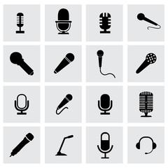 Vector microphone icon set