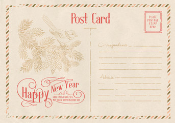 Backdrop of postal card.