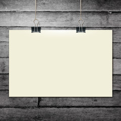 Vector template of a paper sheet -poster, picture frame- on
