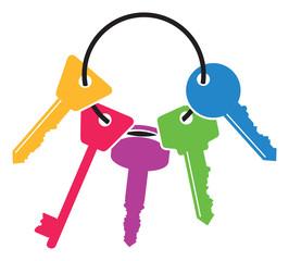 colourful set of keys