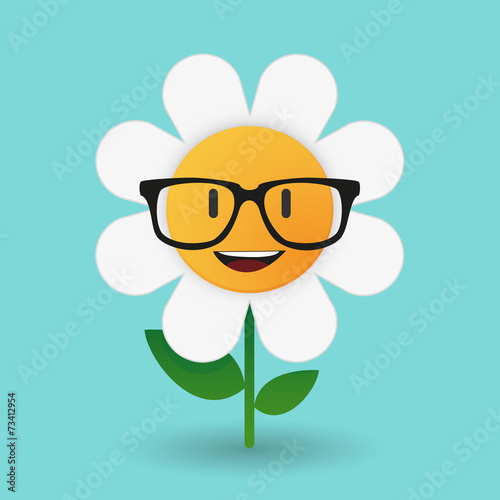 """""""cute Flower Avatar Wearing Glasses"""" Stock Image And"""