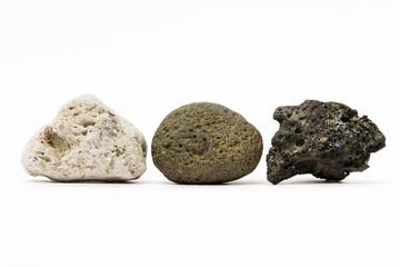 Rocce vulcaniche, pomice,  lava, tefrite