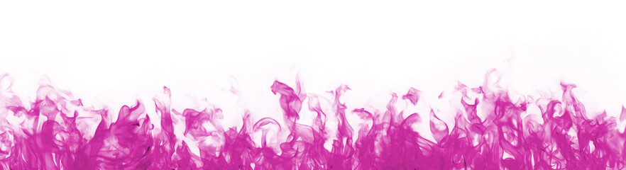 pink flames on white background