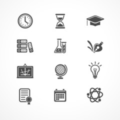 Vector education icons set