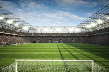 Fotobehang - Stadion mit Tor