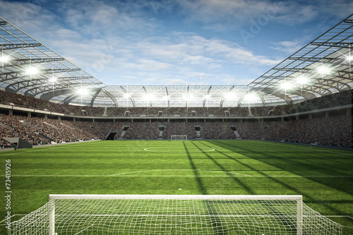 Wall mural Stadion mit Tor