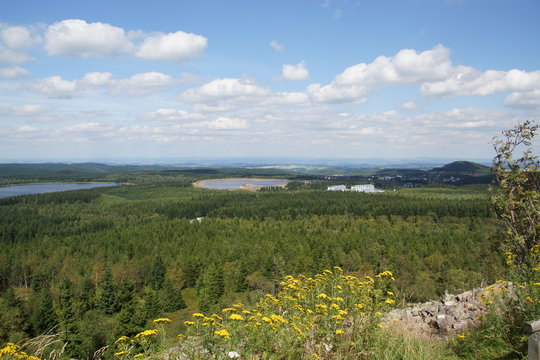 Blick vom Kahleberg im Osterzgebirge
