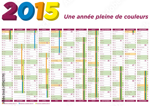 calendrier 2015 avec f tes vacances et jours f ri s. Black Bedroom Furniture Sets. Home Design Ideas