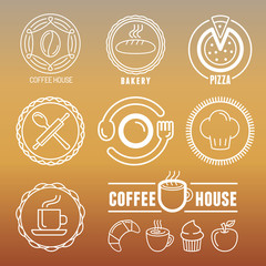 Vector bakery and pastry emblems
