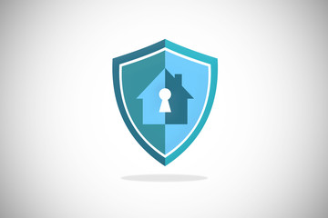 house key security protection shield logo