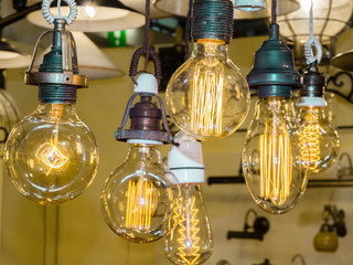 old carbon light bulb Filament