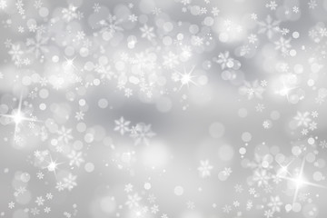 Silver snowflake with sparkle background