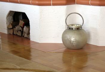 Dekoration, Einrichtung, Kamin, Holz, Vase, Fliese