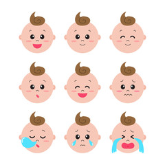 A set of baby facial expression