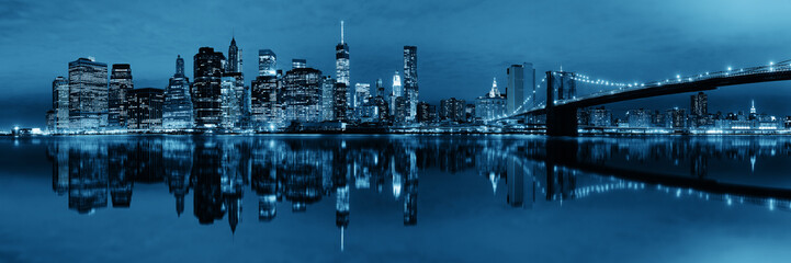 Wall Mural - Manhattan Downtown reflections