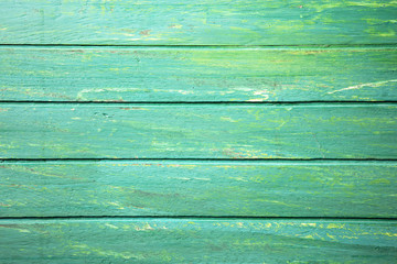 Green colour wooden background