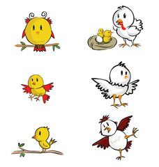 Chicken and Yellow bird