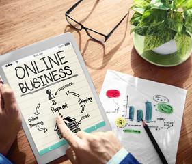 Online Business Digital Marketing Commerce Concept