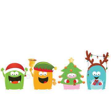 Christmas Monsters Card