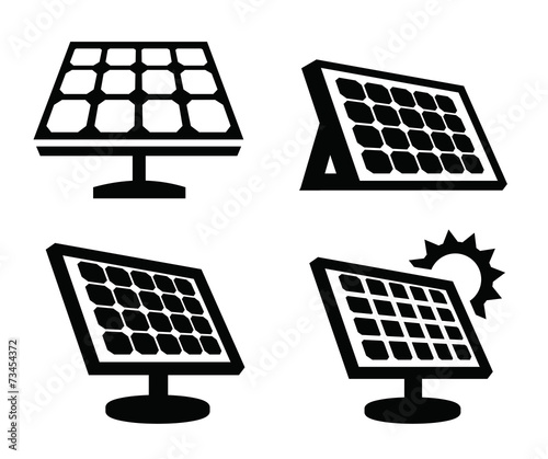 Quot Solar Panel Icon Quot Stock Image And Royalty Free Vector