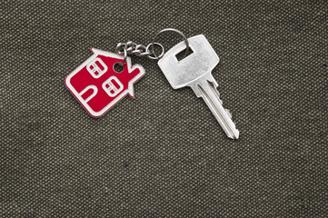 Symbol of the house with silver key