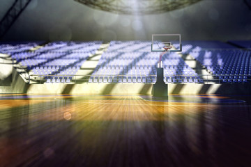 The basketball arena render