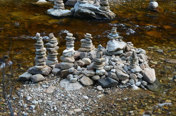 Stones in a river bed