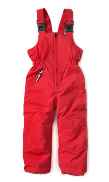 red ski pants for children
