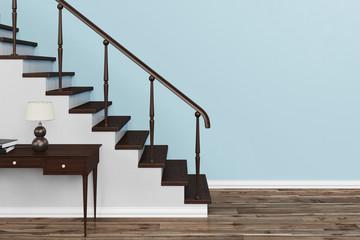 Treppe vor Wand in einem Haus Fototapete
