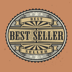 Vintage rubber stamp with the text Best Seller, vector