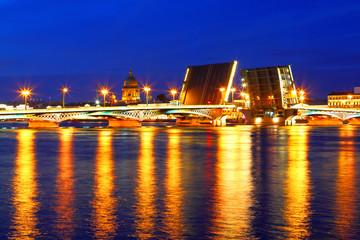 Night view of St  Petersburg. Russia