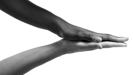 Mani bianco e nero