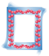 Candy design frame photo