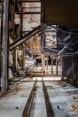 Acrylic Prints Old abandoned buildings rusty industrial ruine