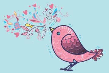 Fotoväggar - bird illustration