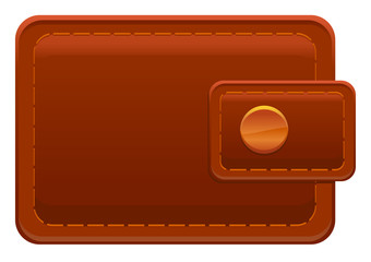 Brown leather wallet image