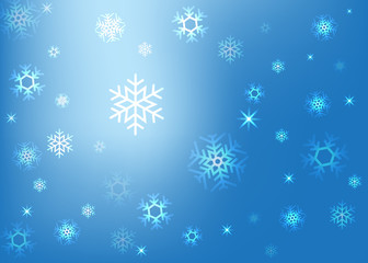 abstract background with snowflakes vector illustration